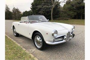 1960 Alfa Romeo Giulietta Spider = 30k miles Ivory $125k For Sale