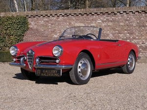 1957 Alfa Romeo Giulietta 1300 Spider 750D first series, restored For Sale