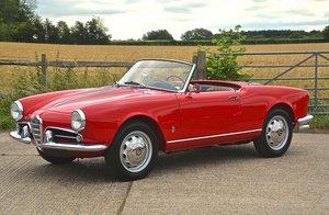 1958 Alfa Romeo Giulietta Spider 750D SWB For Sale