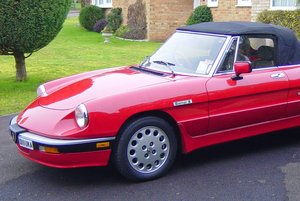 1986 Alfa Romeo series 3 Spider  SOLD