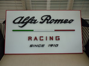 Alfa Romeo Racing Sign.