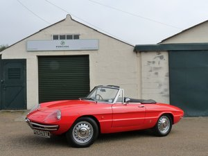 1967 Alfa Romeo Spider Duetto, UK car, Sold SOLD
