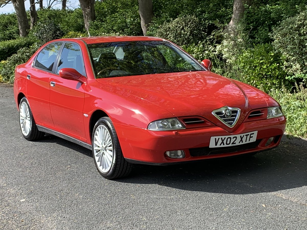 2002 ALFA ROMEO 166 2.5 V6. RED. 89,000 MILES For Sale (picture 1 of 6)
