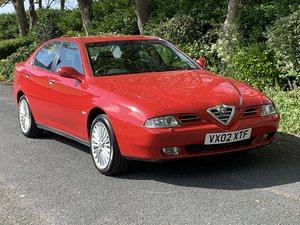 2002 ALFA ROMEO 166 2.5 V6. RED. 89,000 MILES