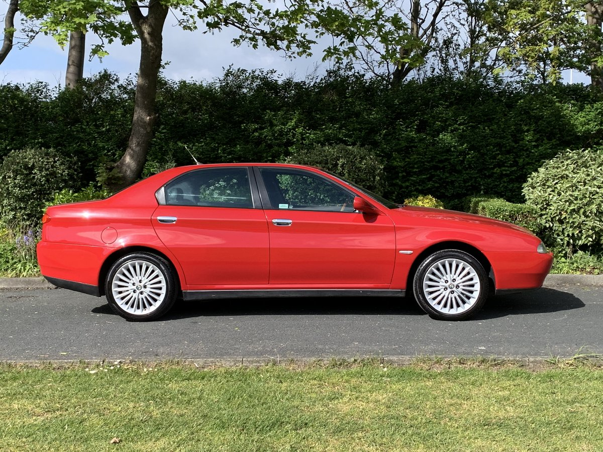 2002 ALFA ROMEO 166 2.5 V6. RED. 89,000 MILES For Sale (picture 2 of 6)
