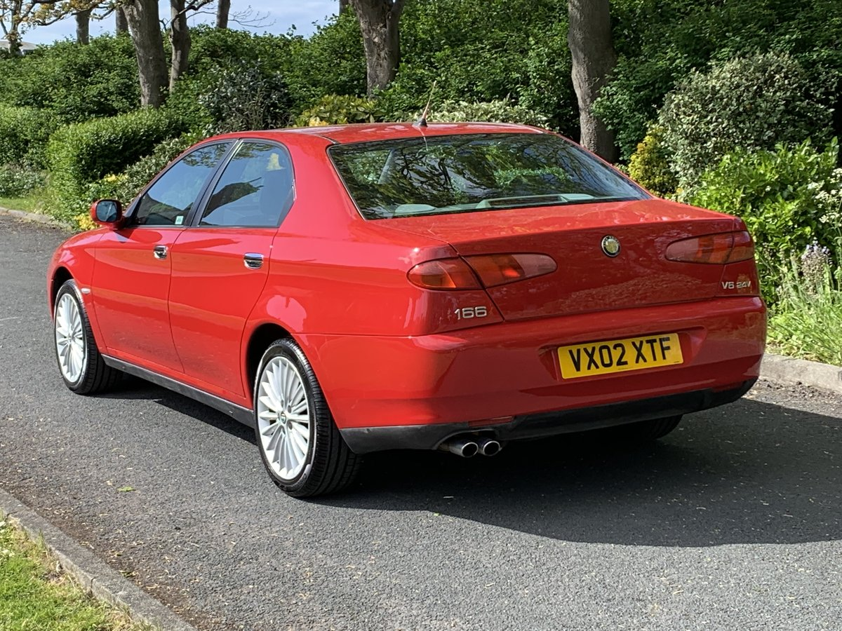 2002 ALFA ROMEO 166 2.5 V6. RED. 89,000 MILES For Sale (picture 3 of 6)