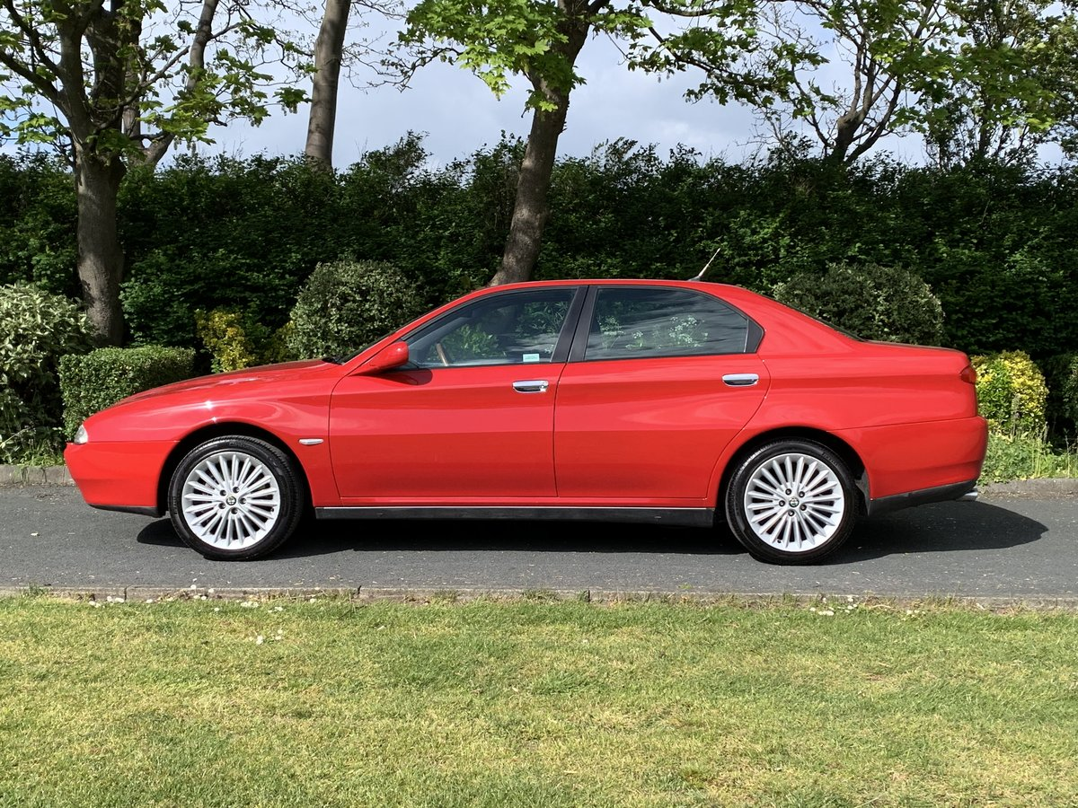 2002 ALFA ROMEO 166 2.5 V6. RED. 89,000 MILES For Sale (picture 4 of 6)