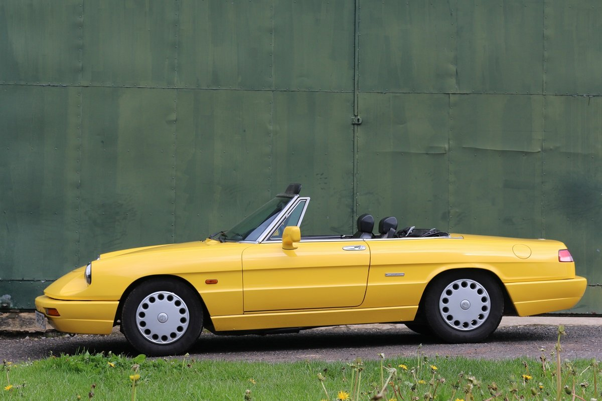 1990 Alfa Romeo Spider 1600 S4 In Giallo Ginestra Sold Car And Classic