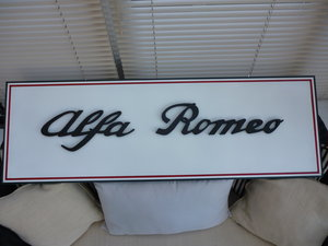 Alfa Romeo Sign Hand Made 3D  For Sale
