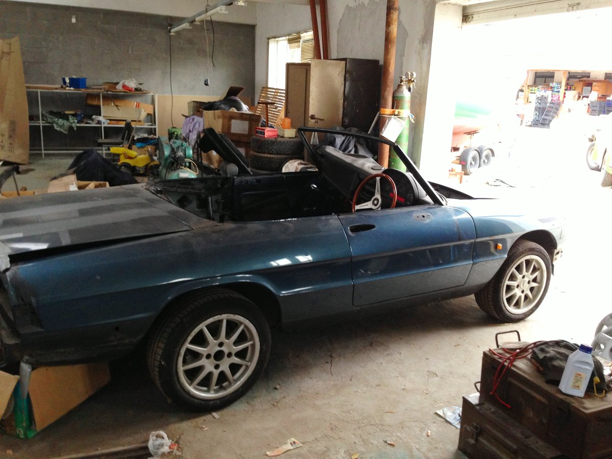 UK reg Spider 105 S3 1989, Rolling Resto RHD/LHD For Sale (picture 2 of 6)