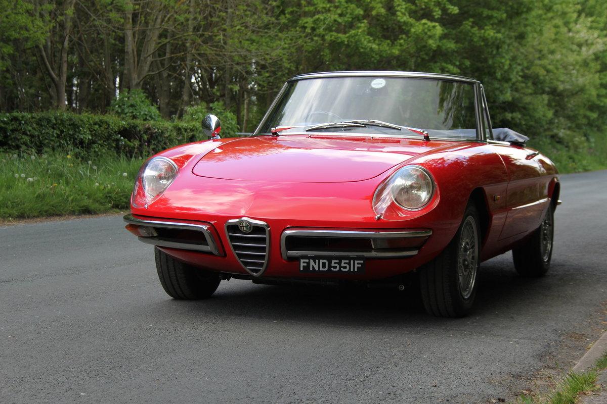 1967 Alfa Romeo Spider 1600 Duetto - Pristine Condition SOLD (picture 3 of 12)