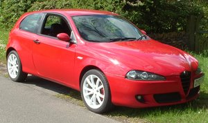 2007 Alfa Romeo 147 1.6 Lusso Ti, Red, 3 Door, MOT Jan For Sale