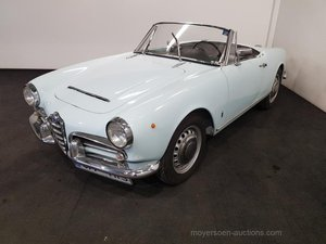 Alfa Romeo Guilietta Spider 1964 For Sale by Auction