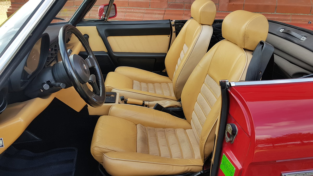 1991 ALFA ROMEO SPIDER 2.0 S4 VELOCE LHD CONVERTIBLE CABRIOLET *  For Sale (picture 3 of 6)