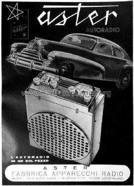1948 Car radio aster for alfa romeo 6c