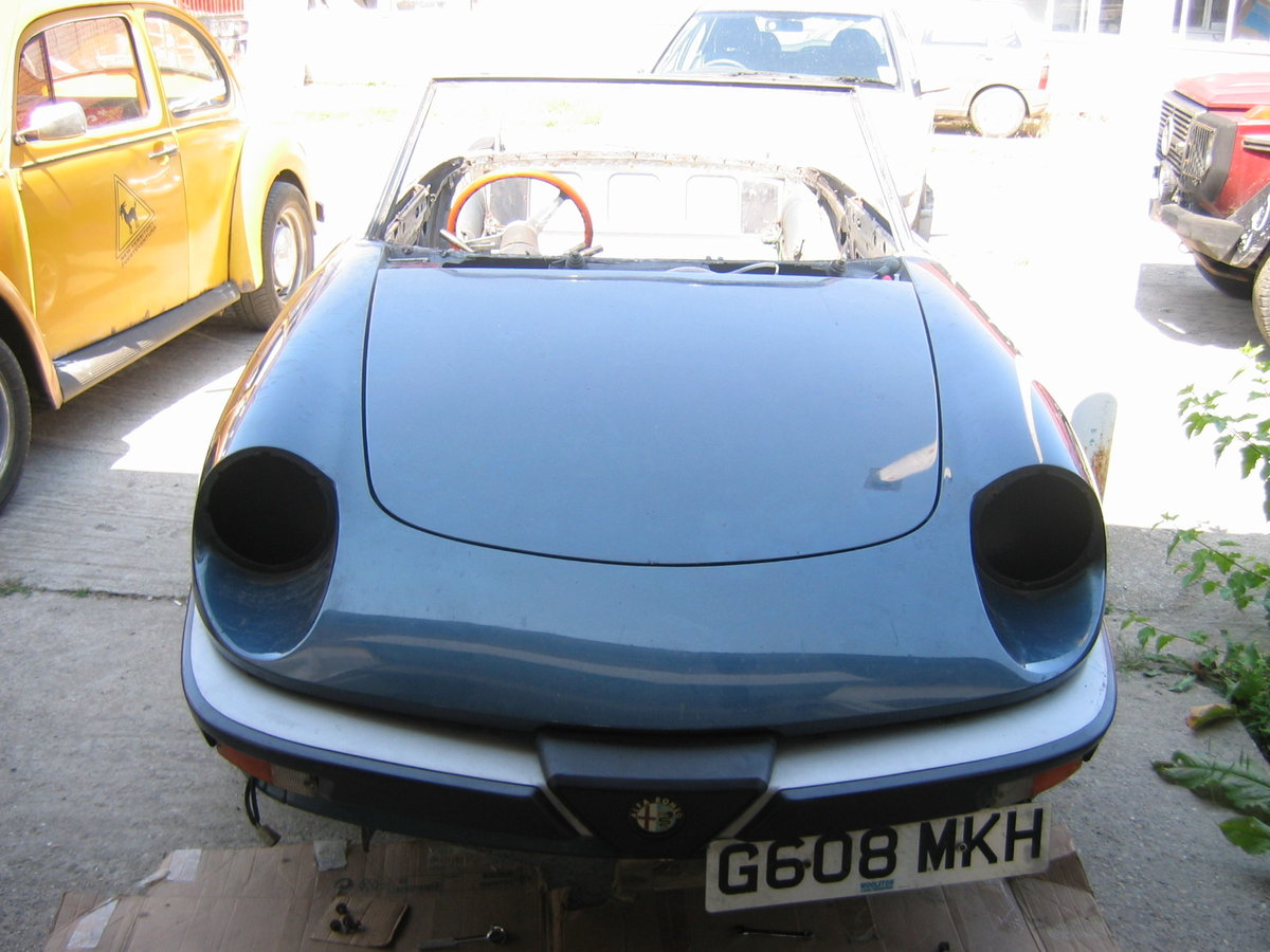UK reg Spider 105 S3 1989, Rolling Resto RHD/LHD For Sale (picture 1 of 6)