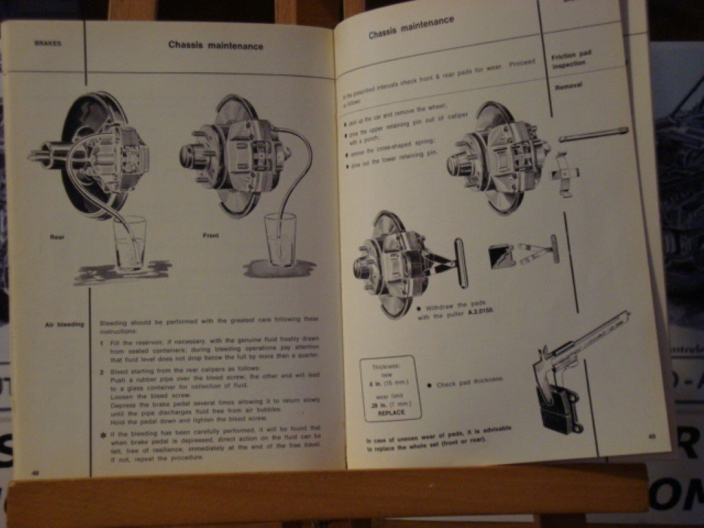 1966 Alfa romeo GT1300 junior instruction book For Sale (picture 3 of 3)
