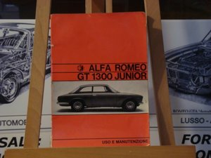 1971 Alfa romeo GT 1300 junior instruction book For Sale