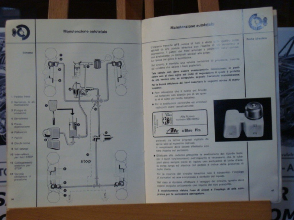 1971 Alfa romeo GT 1300 junior instruction book For Sale (picture 2 of 3)