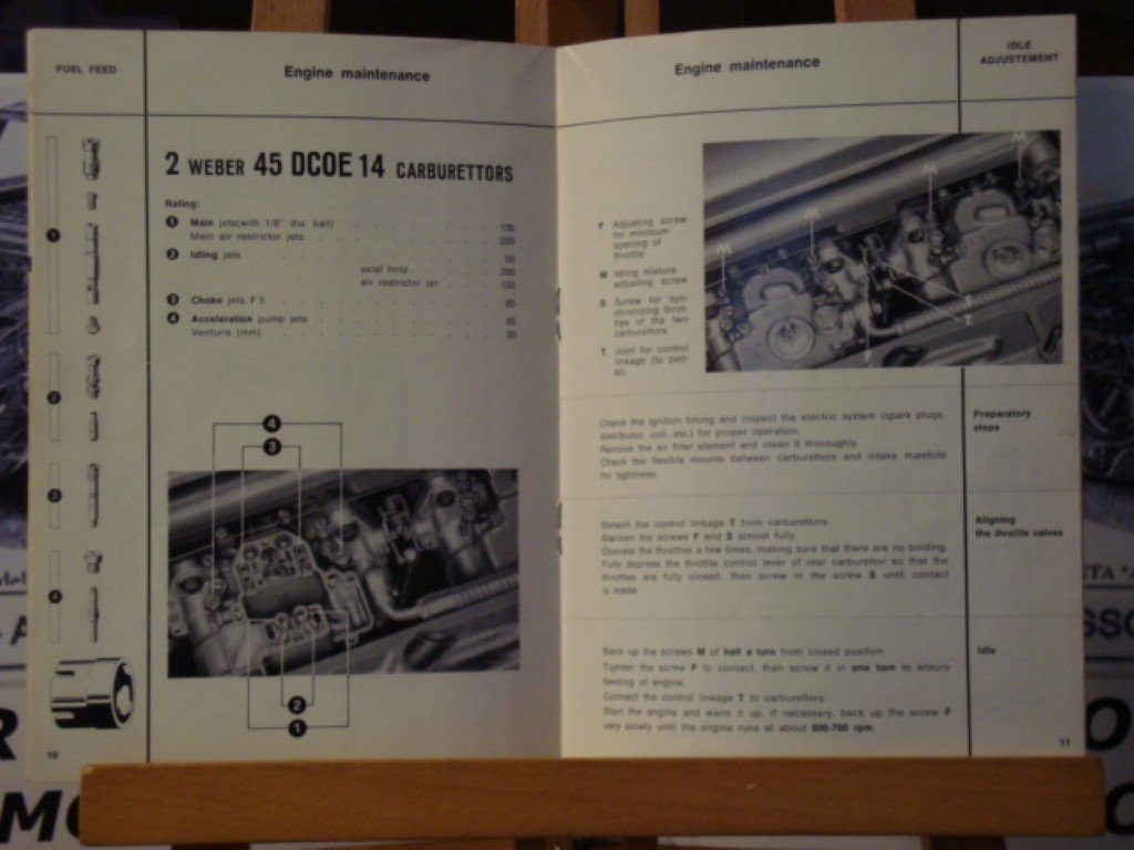 1965 Alfa romeo GTA 1600 instruction book.  For Sale (picture 2 of 3)