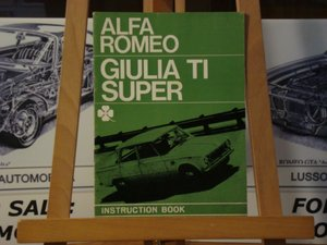 Alfa romeo Giulia TI Super instruction book For Sale