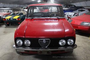 1974 ALFA ROMEO Gulia Nuova Super 1300 Lusso  For Sale by Auction