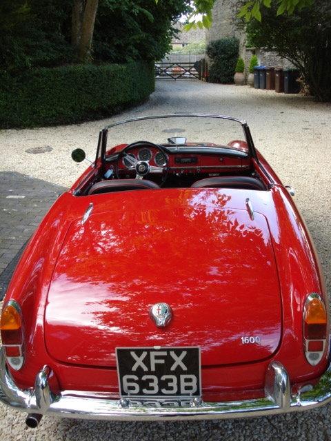 1964 LHD Alfa Romeo Giulia Spider For Sale (picture 4 of 6)