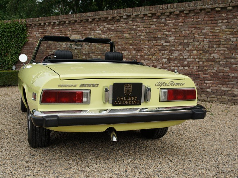1974 Alfa Romeo Spider 2000 owned by one family, documented from  For Sale (picture 6 of 6)