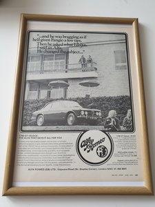 Original 1970 Alfa Romeo Advert