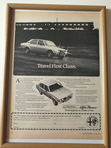 Original 1976 Alfetta Advert