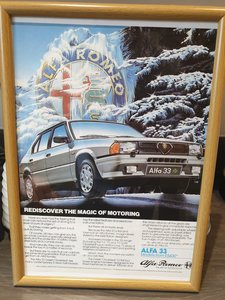 1985 Alfa 33 Advert Original