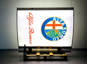1980 Alfa Romeo Double Side Illuminated Sign  For Sale