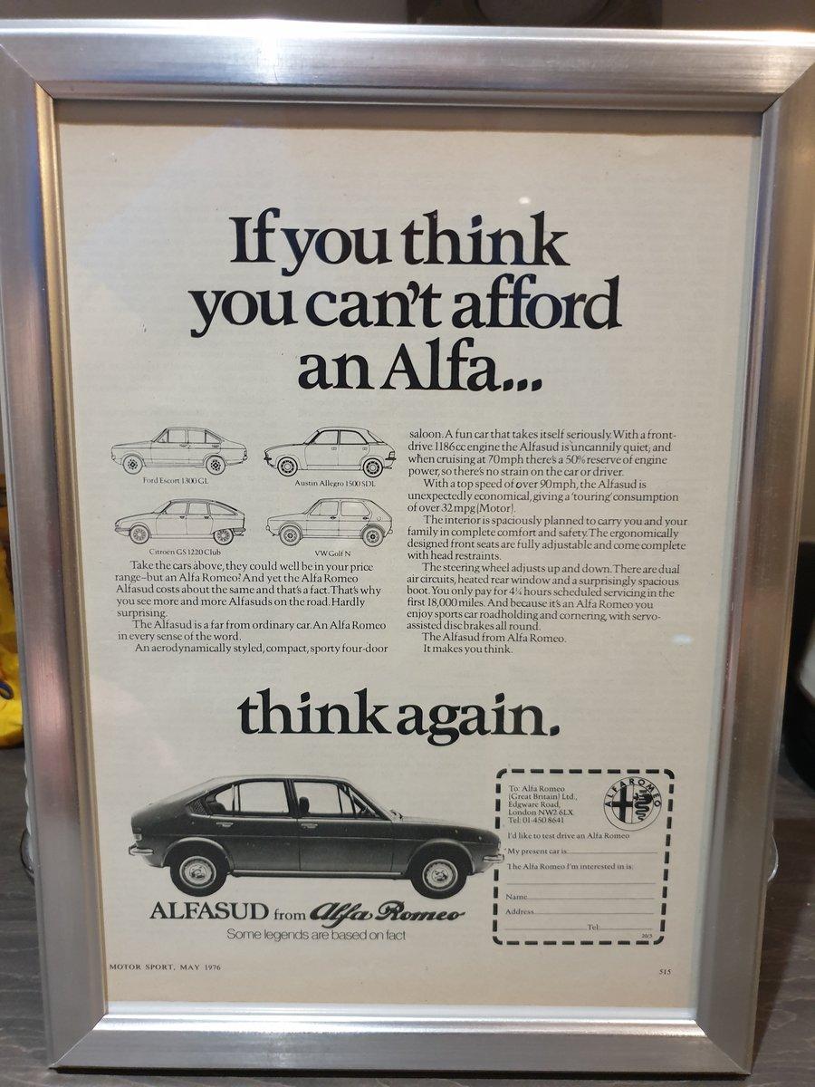 1976 Alfasud Advert Original  For Sale (picture 1 of 2)