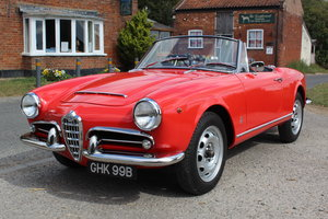 1964 ALFA ROMEO GIULIA SPIDER - RHD, HUGE HISTORY FILE, CONCOURS? For Sale