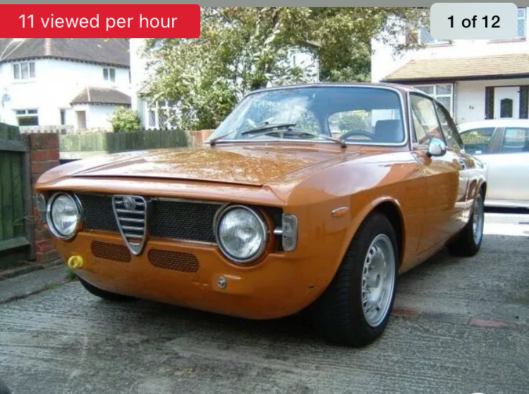 1968 Alfaromeo GT Junior Step nose Scalino For Sale (picture 1 of 6)