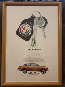 1973 Original Alfa Romeo Framed Advert