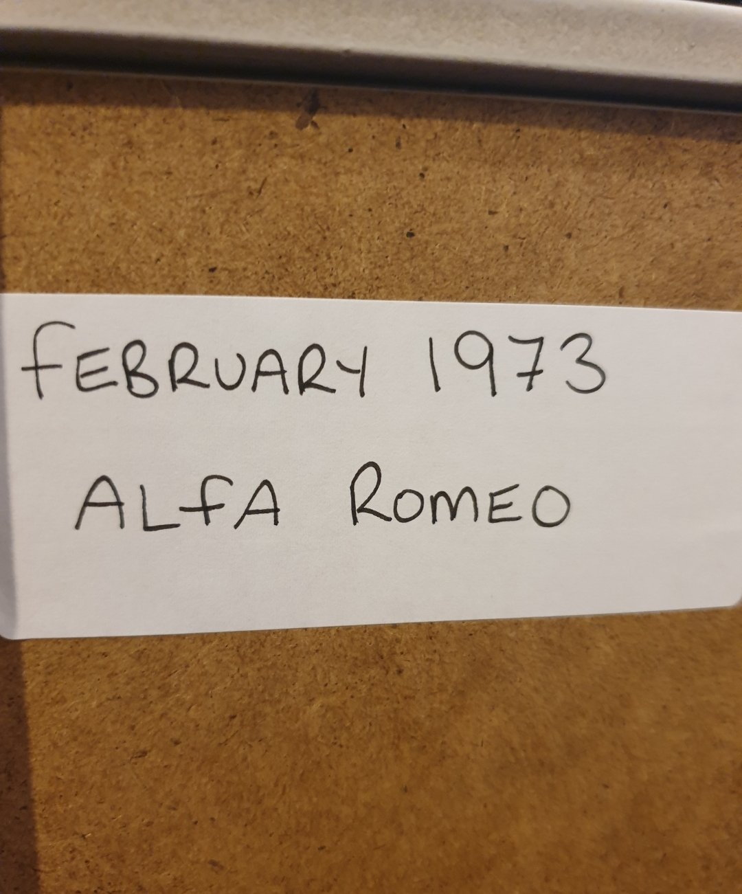 1973 Original Alfa Romeo Framed Advert For Sale (picture 2 of 2)