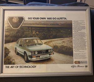 1983 Original Alfa Romeo Alfetta Advert For Sale