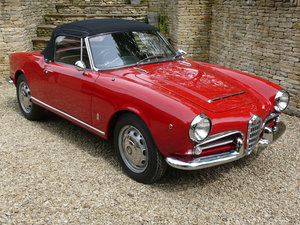 Alfa Romeo Giulia Spider 1600, Original RHD, UK car.