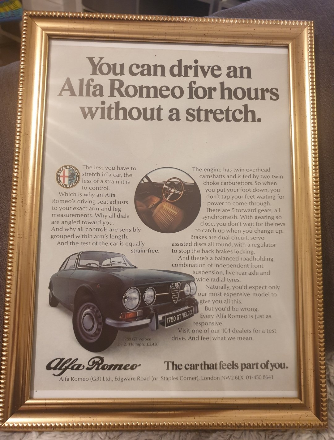 1971 Original Alfa 1750 GT Veloce Advert For Sale (picture 1 of 3)