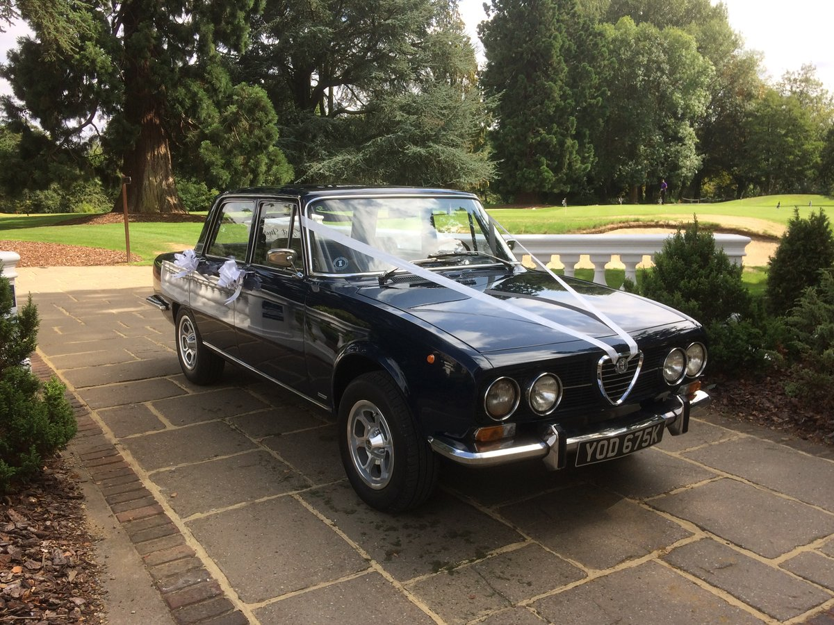 1972 Alfa Romeo Berlina wedding car hire For Hire (picture 1 of 6)