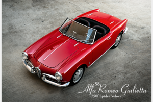 1958 Alfa Romero Giulietta 750F Veloce Spider XMas Red $129  For Sale