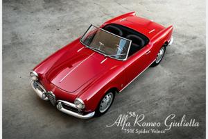 1958 Alfa Romero Giulietta 750F Veloce Spider XMas Red $129