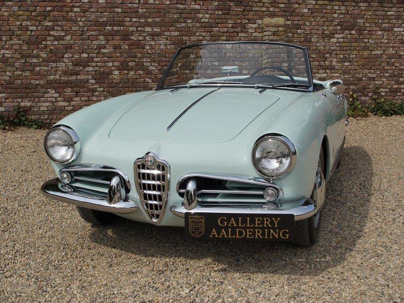 1959 Alfa Romeo Giulietta 1300 Spider Veloce 750 F fully restored For Sale (picture 5 of 6)