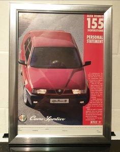 1994 Alfa 155 Framed Advert Original