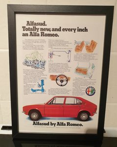 1973 Alfasud Framed Advert Original