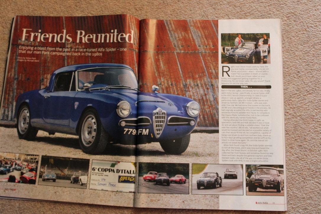 1964 ALFA ROMEO GIULIA SPIDER (FAST ROAD SPEC)  For Sale (picture 18 of 20)