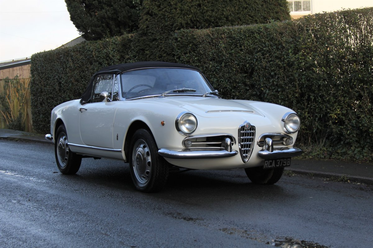 1964 Alfa Romeo Giulia Spider, UK RHD, Years in Canary Islands For Sale (picture 1 of 18)
