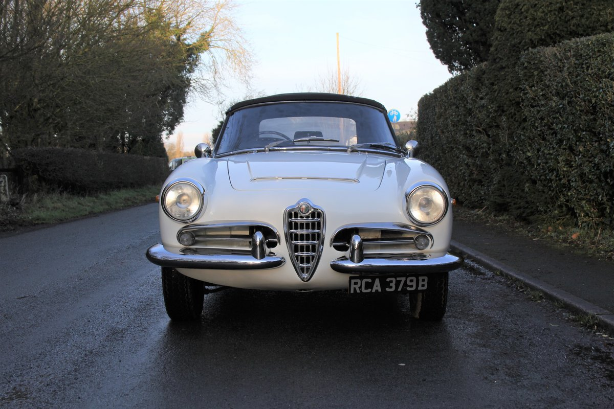 1964 Alfa Romeo Giulia Spider, UK RHD, Years in Canary Islands For Sale (picture 2 of 18)