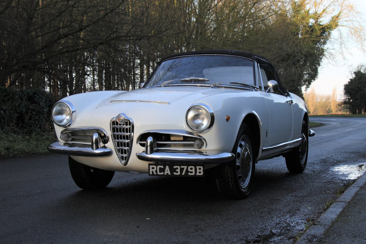 1964 Alfa Romeo Giulia Spider, UK RHD, Years in Canary Islands For Sale (picture 3 of 18)